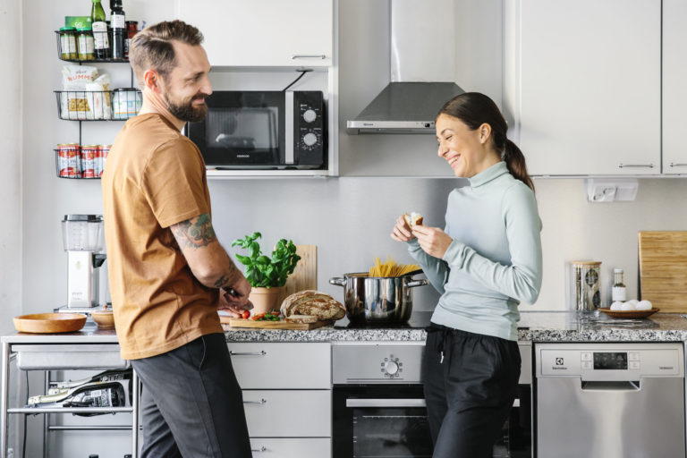 people in kitchen